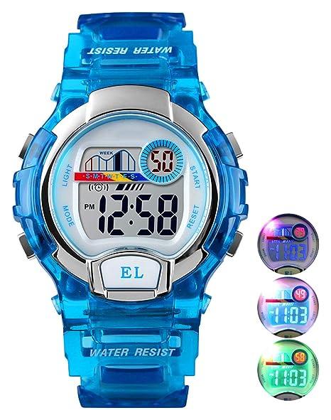 Relojes de Pulsera Digitales para niños niñas, 5ATM Reloj Deportivo a Prueba de Agua para