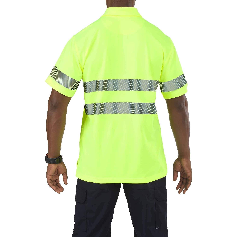 5.11 Tactical Camisa de Manga Corta Polo de Alta Visibilidad para ...