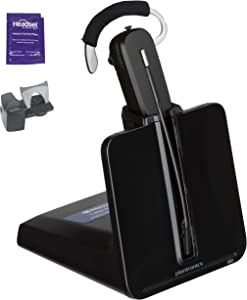 Plantronics CS540 Wireless Headset Bundle with Lifter and Headset Advisor Wipe (Renewed)