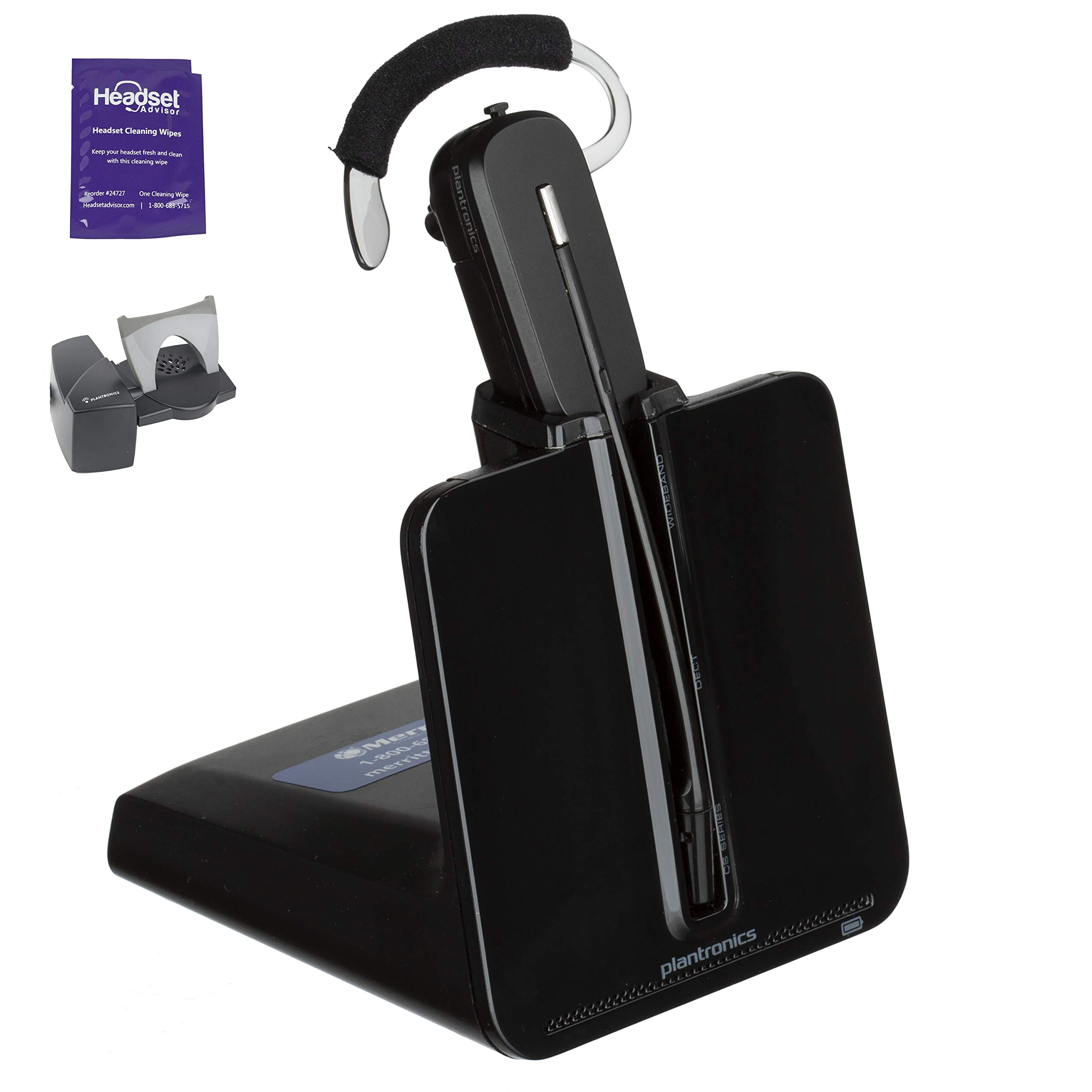 Plantronics CS540 Wireless Headset Bundle with Lifter and Headset Advisor Wipe (Renewed) by Plantronics (Image #1)