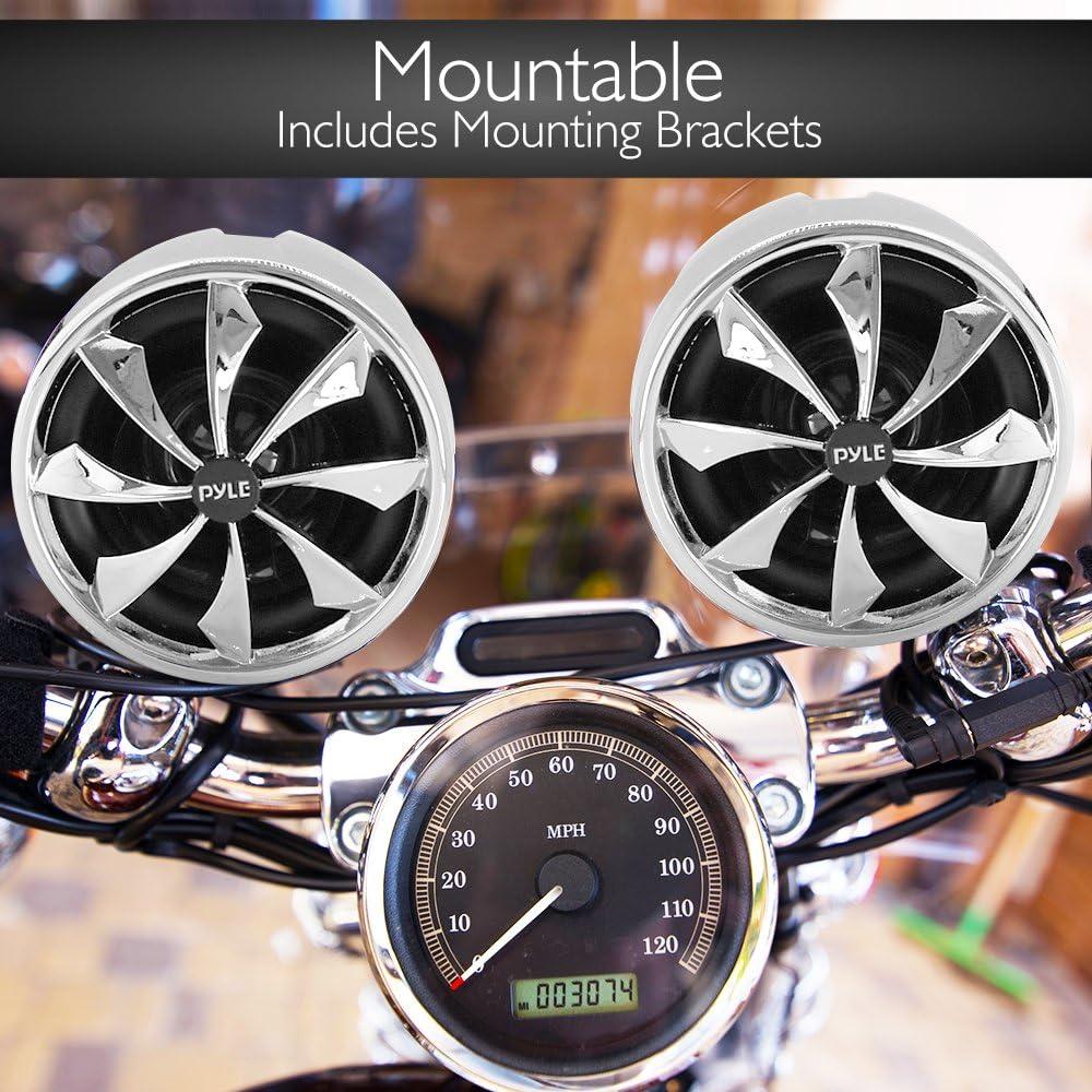 bicicleta Pyle Dos Altavoces con amplificador para la motocicleta 2 x 300 W moto moto de nieve de 600W