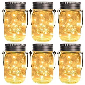 Wasserdichte Glasgläser Garten Jar Fee Licht Schlussverkauf Solar Mason Jar Licht