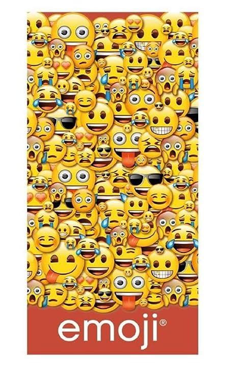 Toalla playa Emoji de algodón