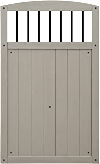 Yardistry Gate with Black Baluster Inserts 42-Inch by 68-Inch Gray