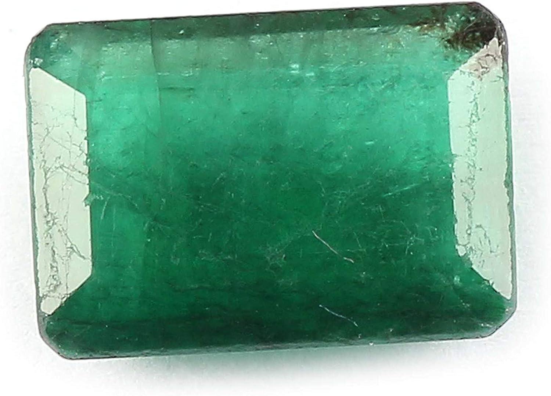 3.3 quilates corte esmeralda de 10 x 8 x 4,3 mm de Zambia Natural verde esmeralda suelta la piedra preciosa para la joyería | Tamaño del anillo de piedras preciosas | astrológico de piedras preciosas