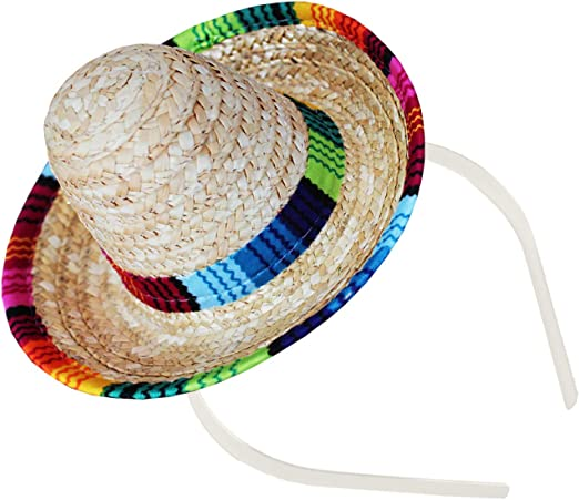 Amazon.com: Sombrero diadema – decoración de fiesta mexicana ...