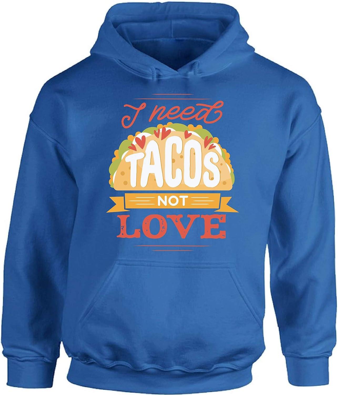 Awkward Styles Anti-Valentine's Day Hoodie I Need Tacos Hooded Sweatshirt