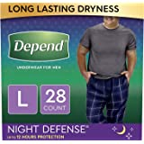 Depend Night Defense Incontinence Underwear for Men, Overnight, Disposable, Large, 28 Count (2 Packs of 14) (Packaging…