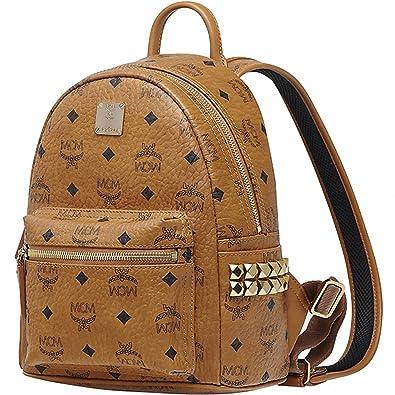 581ab99a9dae 【エムシーエム】 MCM ブラウンミニバックパックリュックサック Brown mini Stark Backpack Bag