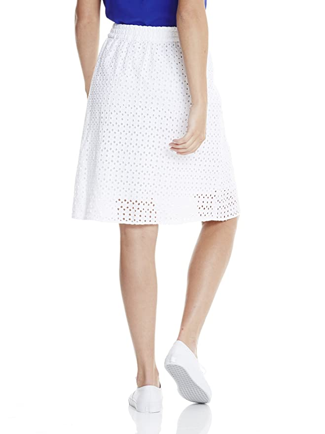 Bench Cotton Crochet Skirt, Jupe Femme, (Bright White WH11185), 36 (Taille Fabricant: X-Small)