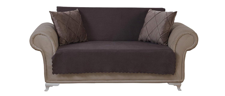Amazoncom Chiara Rose Diamond Loveseat Slipcover 2 Seat Sofa Cover