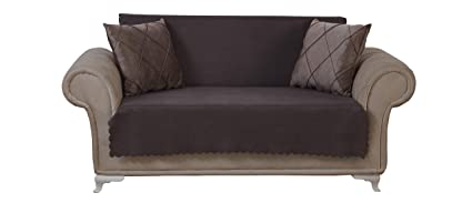 Amazoncom Chiara Rose Diamond Loveseat Slipcover 2 Seat Sofa Cover