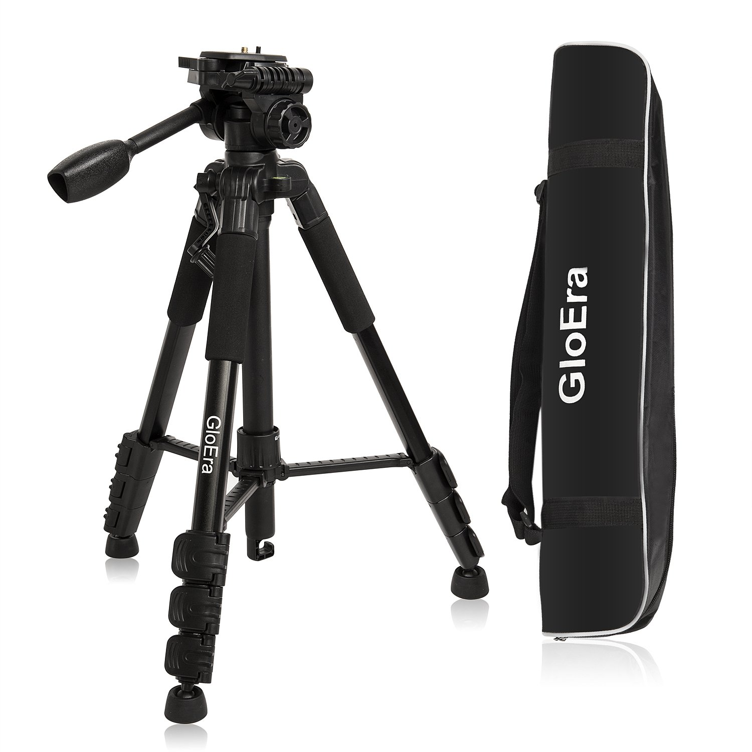 GloEra Camera Tripod Aluminum Portable Lightweight Camera Stand with Quick Release Mount for Canon Nikon Sony Samsung Olympus Panasonic Video Camcorder DSLR DV