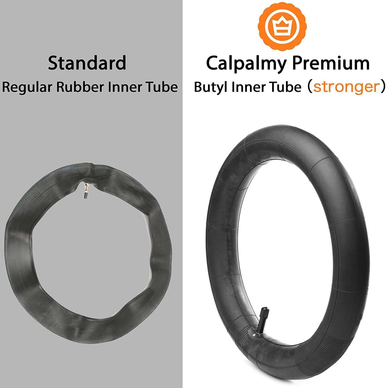 Made from BPA//Latex Free Premium Quality Butyl Rubber 16 x 1.75//1.95 Back Wheel Replacement Inner Tubes 2-Pack for Graco Click//Go Jogging and BoB Revolution SE//Pro//Flex//SU