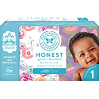 The Honest Company Club Box Diapers with TrueAbsorb Technology, Rose Blossom & Sliced...
