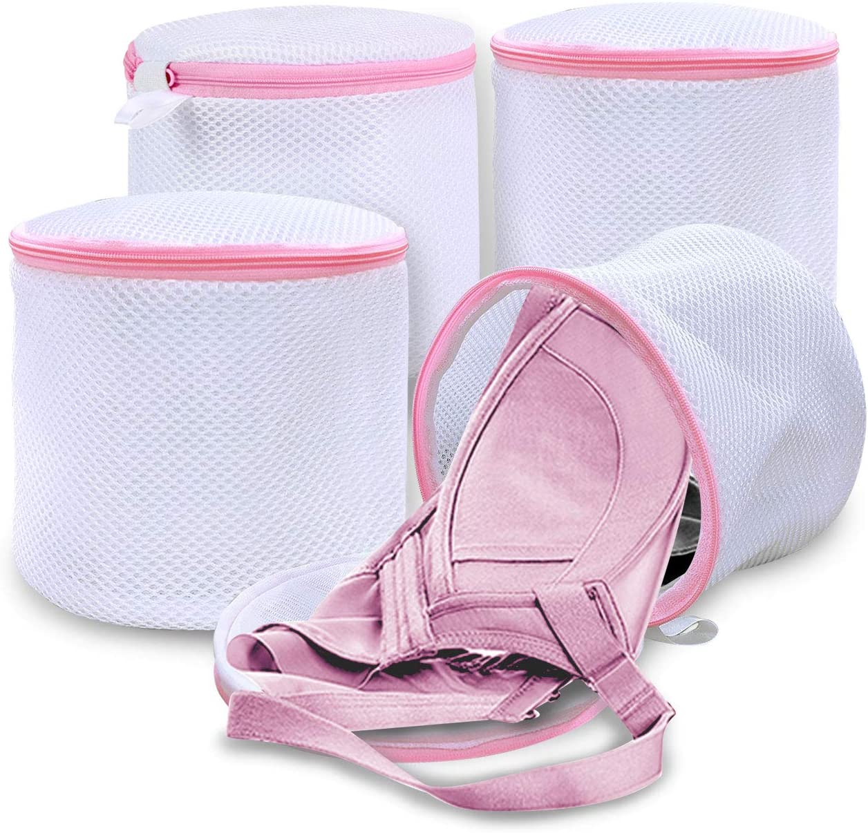 JMEXSUSS Premium Laundry Bag Mesh Wash Bags for Wash Bras Lingerie and Delicates with Premium Zipper (4 Set)