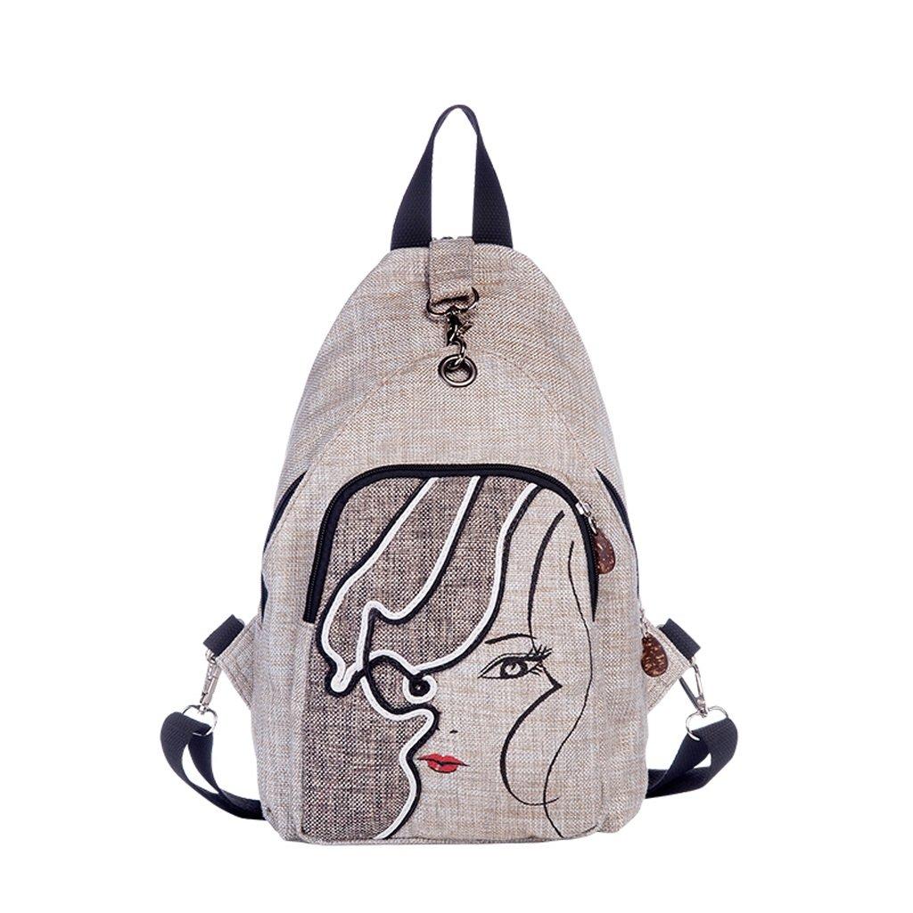 CXQ Fashion Casual Fresh Antifurto Zaino Converdeibile con Cerniera Zaino letterario Borsa da Donna Zaino