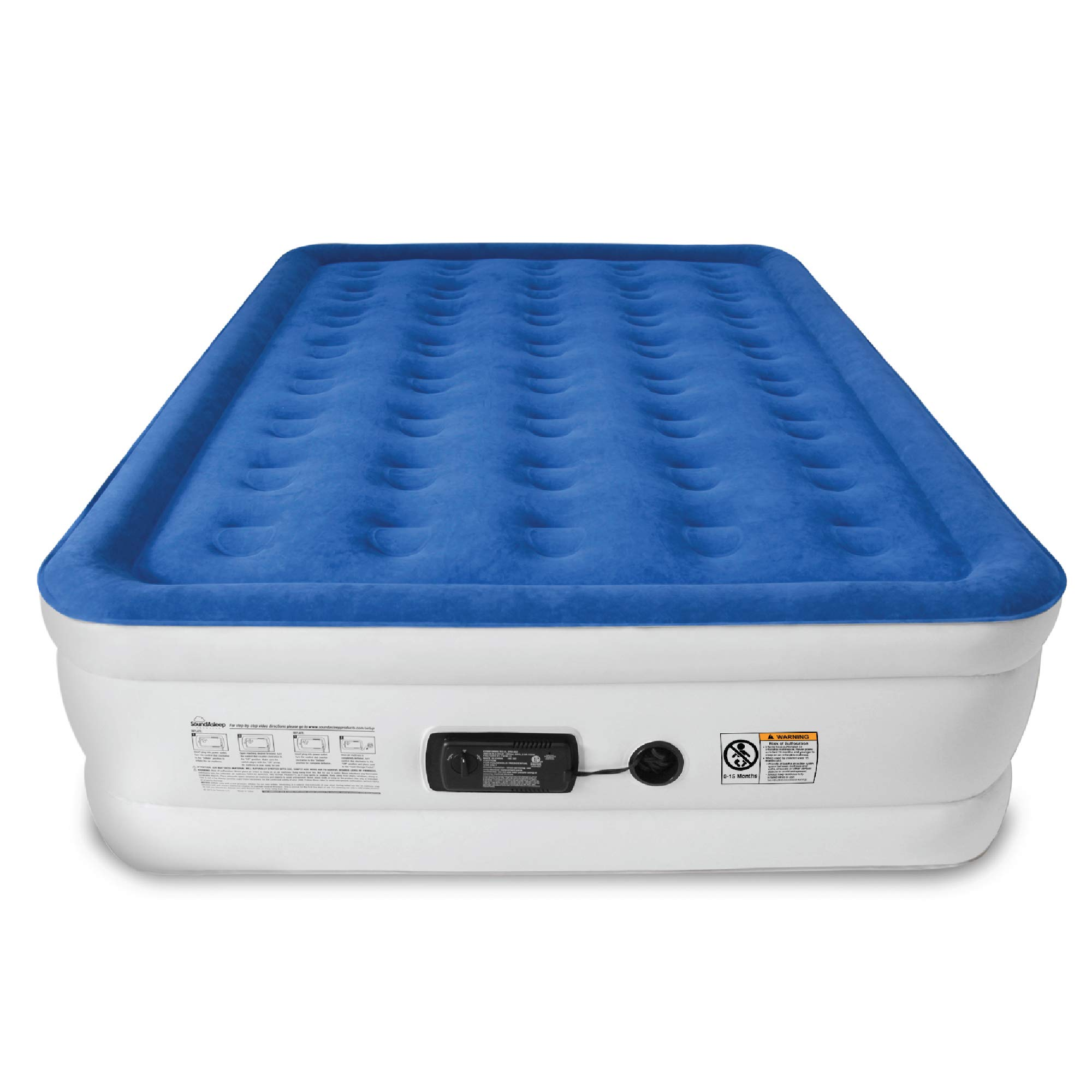SoundAsleep Dream Series Air Mattress with ComfortCoil Technology & Internal High Capacity Pump - Queen Size by SoundAsleep Products