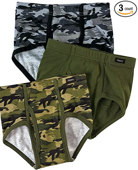 04c1609e3c3c Image Unavailable. Image not available for. Color: Boys' Hanes Ultimate  Brief with ComfortSoft Waistband Assorted 3-Pack