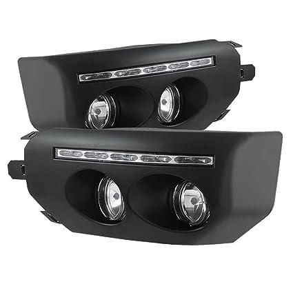 amazon com spyder auto fl drl tfj07 bk toyota fj cruiser black fog rh amazon com FJ Cruiser Amber Fog Lights Driving Lights for FJ Cruiser