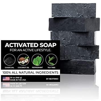 Handcrafted In Usa Organic Ingredients Detox Charcoal Soap #1 Best Seller!
