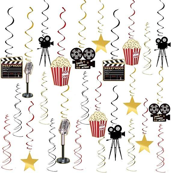 NEW Themed   Film /& TV Hollywood Swirls Decorations //12