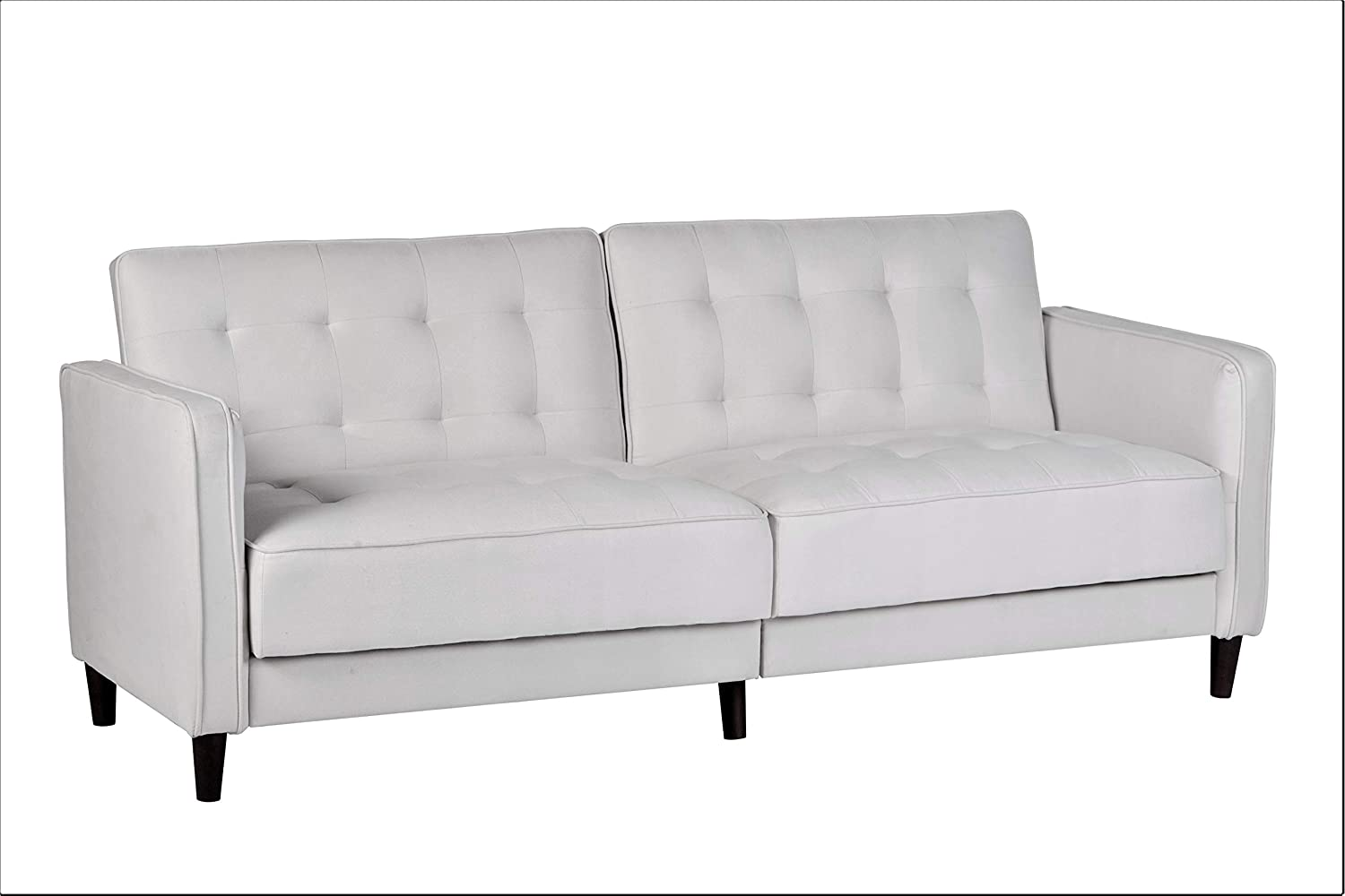"""Container Furniture Direct Madelina Modern Fabric Convertible Tufted Sleeper Sofa, 81"""", Beige"""