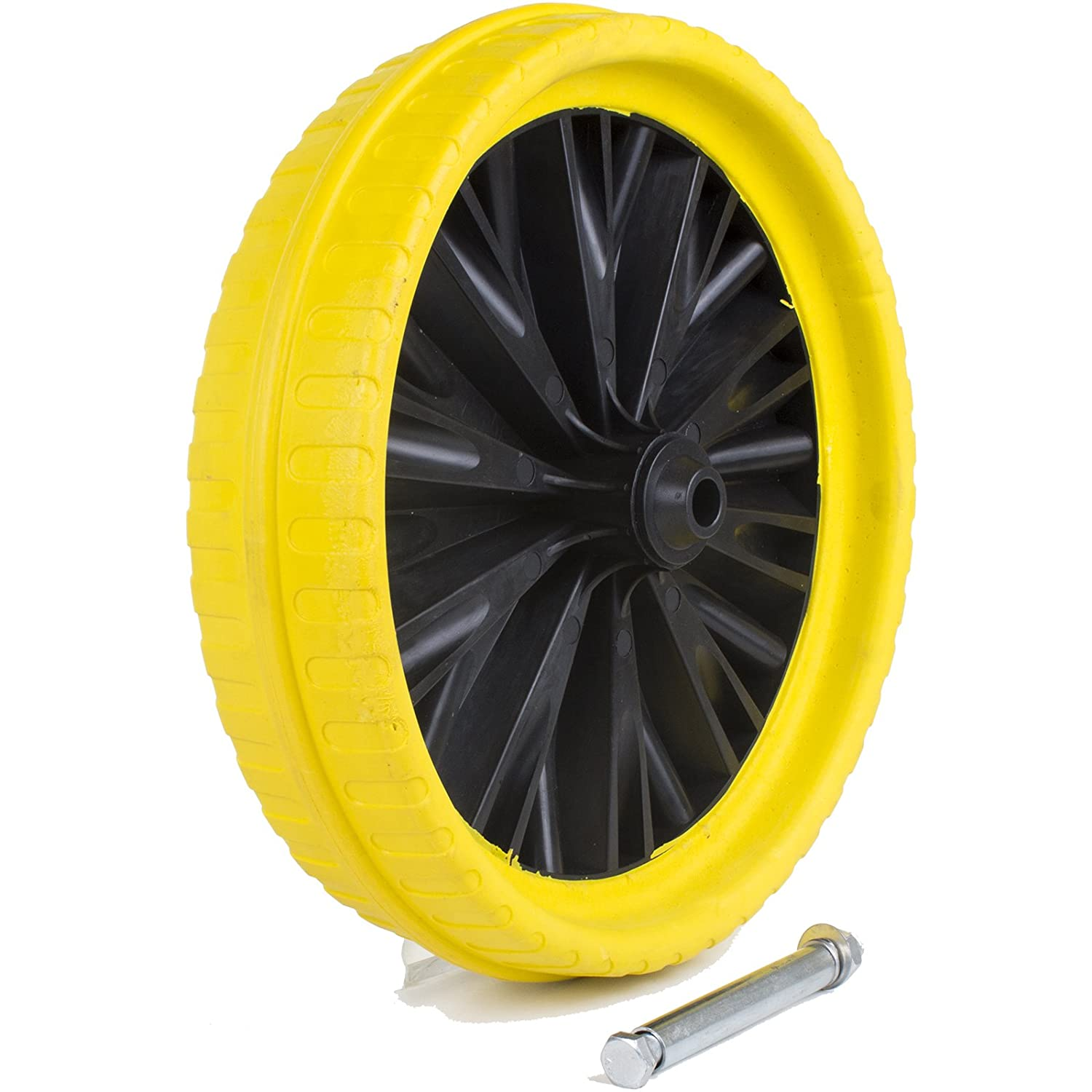 Marko Tools 13' Yellow Puncture Proof Wheelbarrow Wheel Tyre Solid Lightweight Plastic/Foam