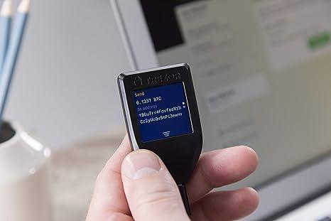 Trezor Modelo T - Monedero de Hardware de Criptomonedas. Cartera Criptográfica de Próxima Generación con Pantalla Táctil LCD a Color y USB-C
