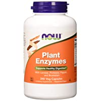 NOW Supplements, Plant Enzymes with Lactase, Protease, Papain and Bromelain, 240...
