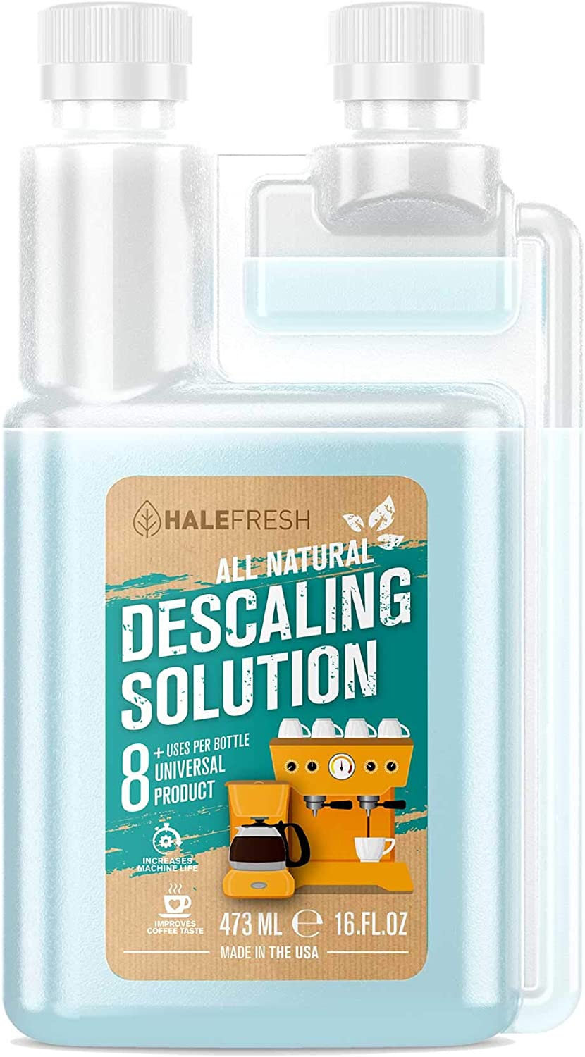 Descaling Solution Coffee Maker Cleaner - Simple All Natural 8 Uses Per Bottle - Universal for Keurig, Ninja, Nespresso, Gagia, Mr Coffee, and Drip, Coffee and Espresso Machines 71fe3ugCguL