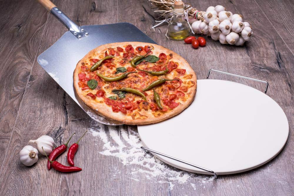 culinario Pizzaschaufel mit Holzgriff Pizzaheber aus Aluminium Stiell/änge: 43 cm 35,5 x 30,5 cm