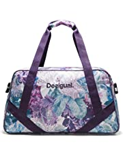 Desigual Art and Thread Carry Shoulder Bag Magenta Haze