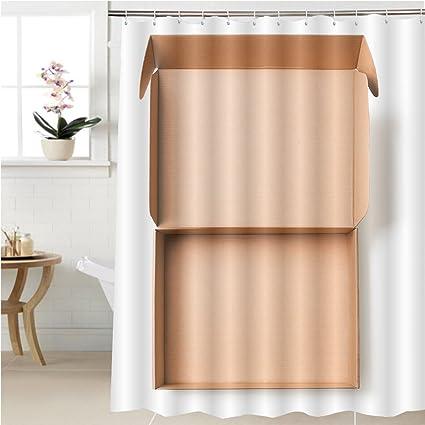 Amazon.com: Gzhihine Shower curtain open cardboard box top view ...