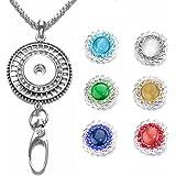 233803db45a5 Soleebee Correa para el Cuello 87cm Cadena de Plata Colgante de Hueco  Diamante de Imitacion con