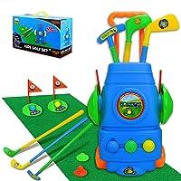 TOMYOU Kids Golf Toy Set – Golf Cart with Hitting Mat, Toddler Golf Toy, Indoor...