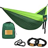 Amazon Price History for:Greenmall Double Portable Camping Hammock, Soft Breathable Parachute Nylon Lightweight Hammock for Hiking Travel Backpacking Beach Garden, 660lbs Capacity,3 YEAR WARRANTY