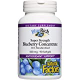 Natural Factors BlueRich (Super Strength Blueberry Concentrate, 500mg, 90 Softgels)