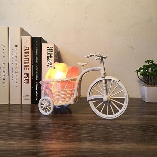 D_HOME Lámpara de Sal Creativa de la Bicicleta de la Rota lámpara ...