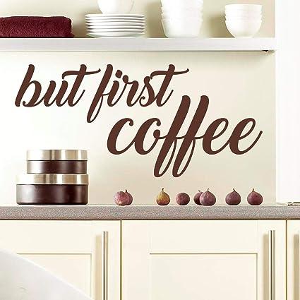 Dozili But First Coffee | Adesivo Adesivo murale Stencil per Cucina ...