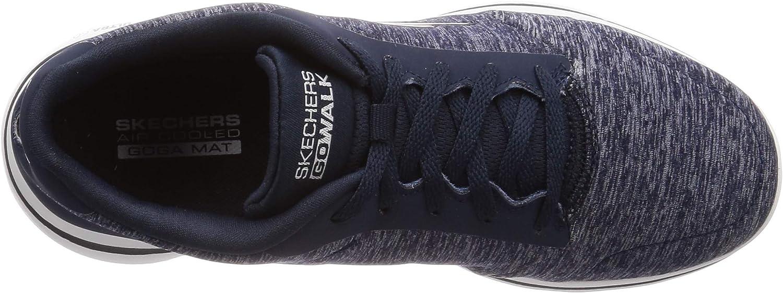 Skechers Go Walk 5-True, Baskets Femme Navy Textile White Trim Nvw