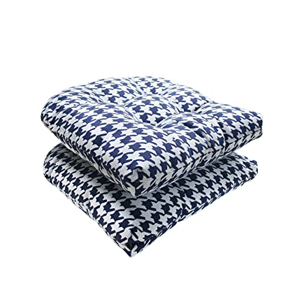 Marvelous Fabritones Outdoor Chair Cushion 2 Packs 16X17 Inch Indoor Decorative Navy Chair Pads For Office Patio Chair Comfortable Houndstooth Pattern Seat Ibusinesslaw Wood Chair Design Ideas Ibusinesslaworg