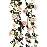Butterme 1PCS 6 FT faux roses fleurs de vigne fleurs artificielles plantes jardin principal parti craft art bureau de l'hôtel de mariage décoratif