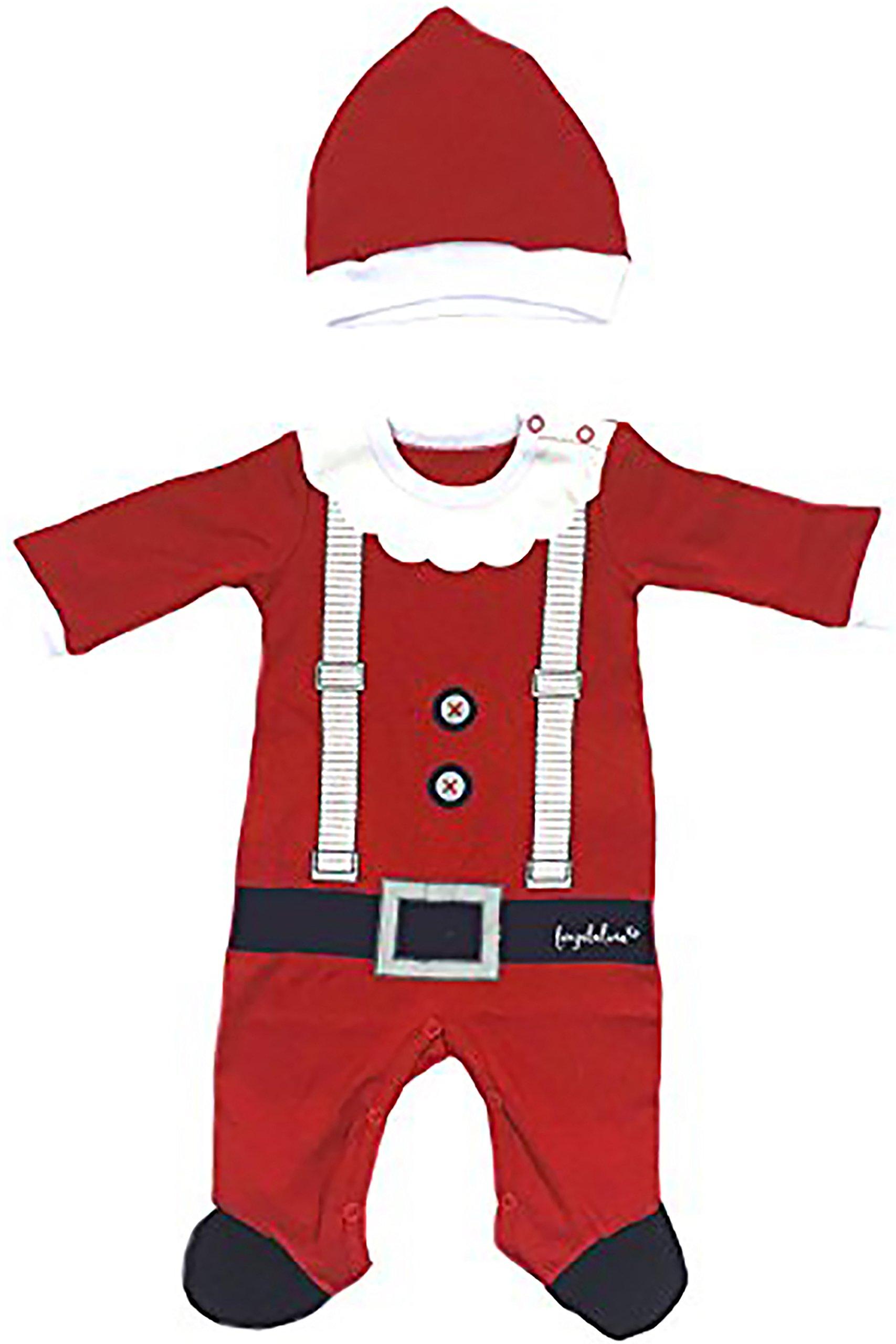 Fayfaire Christmas Pajamas Boutique Quality: Adorable Xmas Santa Suit with Hat 6-12M