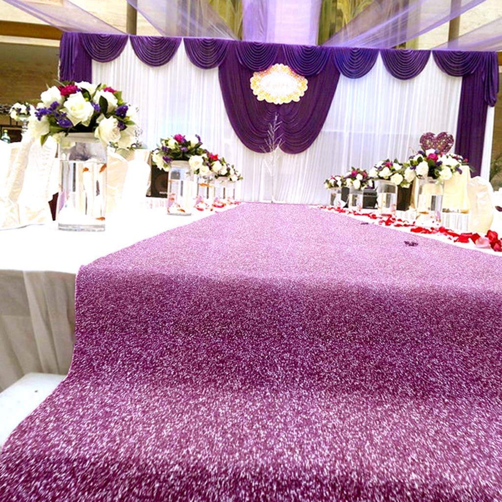 Customizable Color : Beige, Size : 1x5m Wedding Carpet Runner Church Hall Birthday Party Decoration Anniversary Ceremony Sequined Carpet Extra Long Size