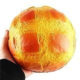 Jimmackey Squishy Ananas Colossale Panino Super Slow Rising Profumato Alleviare Stress Giocattolo Giallo 15*6cm