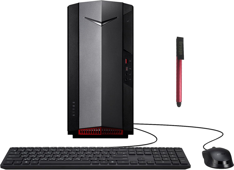 Acer Nitro 50 GTX 1650 4GB Gaming Desktop Computer, Intel Hexa-Core i5-10400 up to 4.3GHz(Beat i7-8700), 16GB DDR4 RAM, 1TB PCIe SSD, WiFi 6, Bluetooth 5, Type-C, Windows 10, BROAGE 64GB Flash Drive