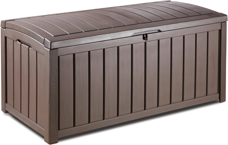 Keter, Glenwood 101Gal. Caja de cubierta cojines para muebles de jardín, piscina y equipamiento deportivo y césped y jardín artículos.