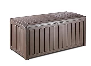 Keter, Glenwood 101Gal. Caja de cubierta cojines para muebles de jardín, piscina y equipamiento deportivo y césped y jardín artículos. Glenwood 101Gal. Caja de cubierta cojines para muebles de jardín 212746