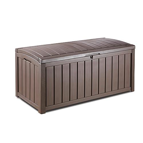Genial Keter Glenwood Plastic Deck Storage Container Box Outdoor Patio Furniture  101 Gal, Brown